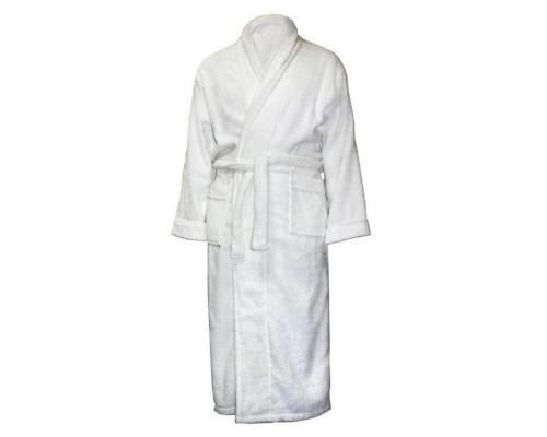 Халат махровый, размер 54-56, 380гр/м2,белый