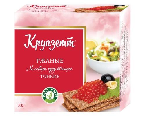 Хлебцы Круазетт ржаные тонкие к/п 200 г