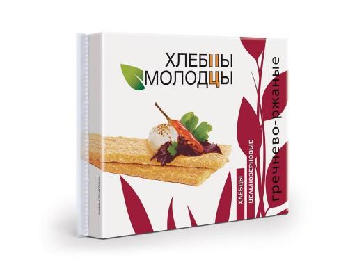 Хлебцы хрустящие Хлебцы-Молодцы гречнево-ржаные,110 г.