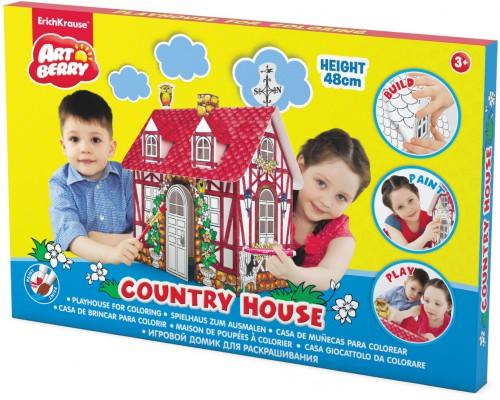 Игровой домик для раскрашивания Artberry/Country house/мал/карт. короб., разноцветн.