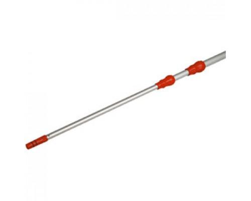 Ручка для мытья окон VILEDA 2х125см, телескопическая, металлик/красный