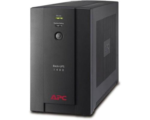 ИБП APC by Schneider Electric Back-UPS 1400VA, 230V, AVR, Schuko (BX1400U-GR)