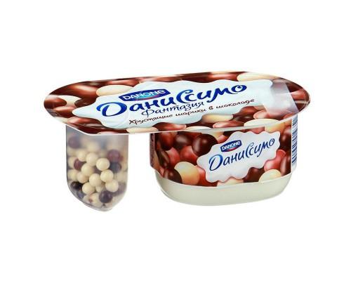 Десерт творожный Даниссимо Фантазия хрустящие шарики 105 г