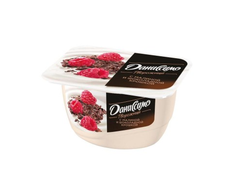 Десерт творожный Даниссимо малина с шоколадной крошкой 6.2% 130 г