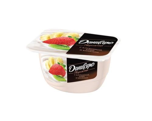 Десерт творожный Даниссимо клубника-банан 5.4% 130 г