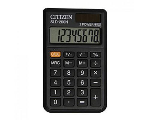 Калькулятор карманный 8 разрядов CITIZEN SLD-200N, 60х97,5х10,3мм, черный
