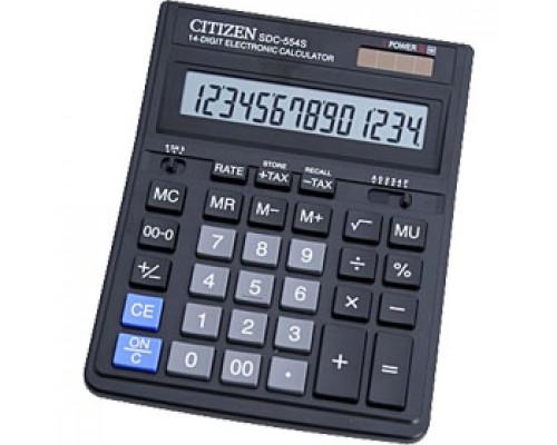 Калькулятор настольный 12 разрядов CITIZEN SDC-444S, 153х199х30.5мм, черный