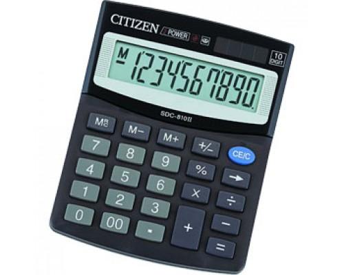 Калькулятор настольный 12 разрядов CITIZEN SDC-812BN, 100х125х34мм, черный