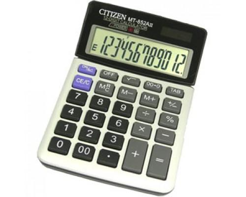Калькулятор настольный 12 разрядов CITIZEN MT-852A, 161х104х18мм, серый