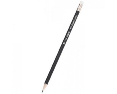 Карандаш чернографитовый FABER-CASTELL 1112 HB, ластик
