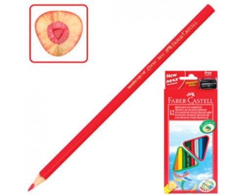 Набор карандашей 12цв. FABER-CASTELL, трехгранный