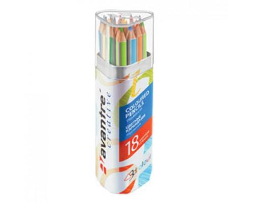 Набор карандашей 18цв. AVANTRE, трехгранный, пенал
