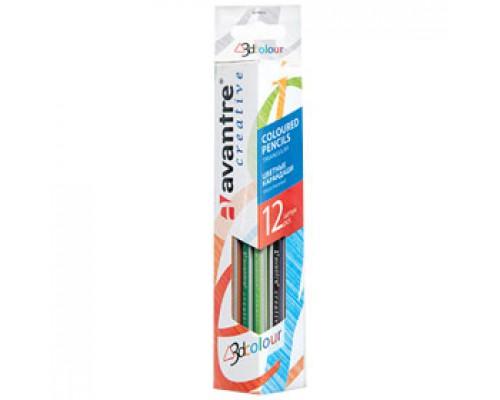 Набор карандашей 12цв. AVANTRE, трехгранный