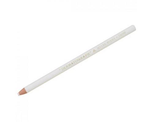 Карандаш восковой UNI Dermatograph P-7600, 1-4мм, белый