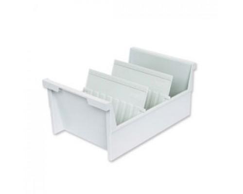 Картотека для карточек А5 на 1000шт HAN 855/0-11, горизонтальная, открытая, серый