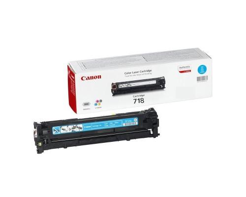 Картридж лазерный Canon 718 2661B002 голубой оригинальный