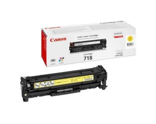 Картридж лазерный Canon 718 2659B002 желтый оригинальный