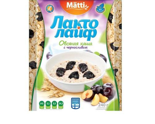 Каша Лактолайф овсяная с черносливом 6 штук по 40 г