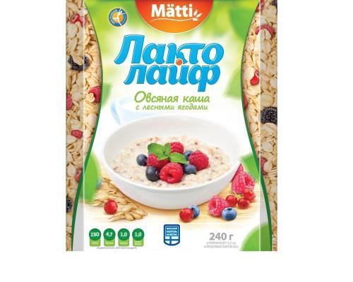 Каша Лактолайф овсяная с лесными ягодами 6 штук по 40 г