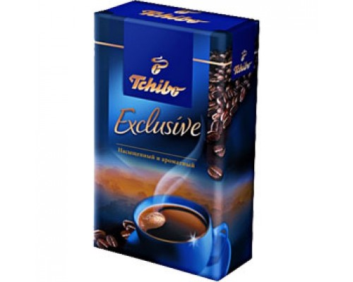 Кофе TCHIBO Exclusive молотый, 250г, вакуумн. упаковка