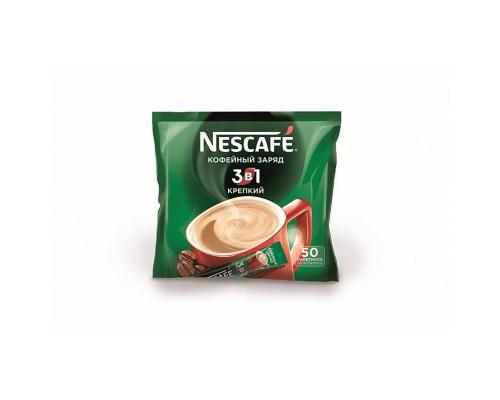 Кофе порционный растворимый Nescafe 3 в 1 Крепкий 50 пакетиков по 16 г