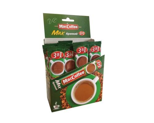 Кофе порционный растворимый MacCoffee Max 3 в 1 крепкий 20 пакетиков по 16 г