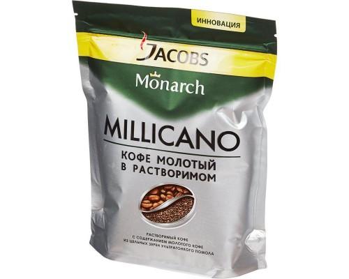 Кофе Jacobs Monarch Millicano раств.с молот. 150г пакет