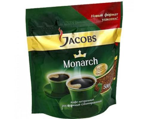 Кофе JACOBS Monarch растворимый, 500г, пакет