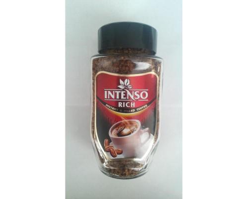 Кофе Intenso Rich сублимированный с добавлением молотого, стекло 100 г