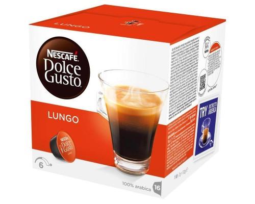 Капсулы для кофемашин Nescafe Dolce Gusto Лунго (16 штук в упаковке)
