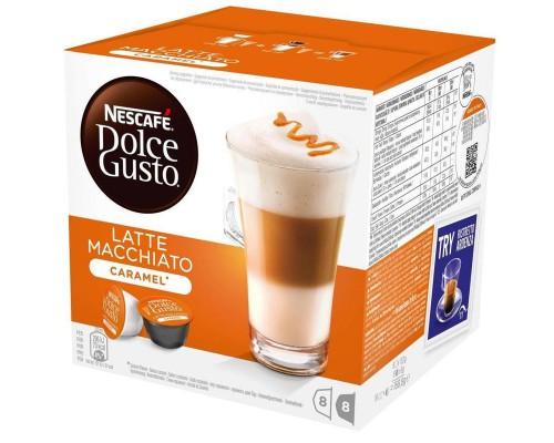 Капсулы для кофемашин Nescafe Dolce Gusto Латте Макиато со вкусом карамели (16 штук в упаковке)