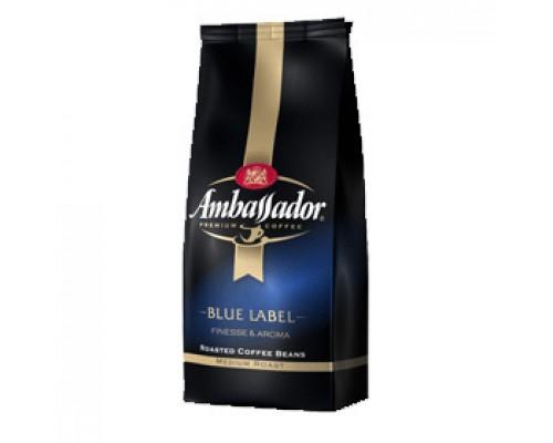 Кофе AMBASSADOR Blue Label премиум зерно, 1000г, вакуумн. упаковка