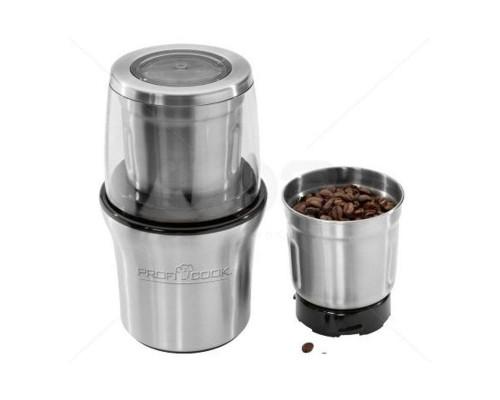 Кофемолка Profi Cook PC-КSW 1021 нерж.сталь 2 чаши