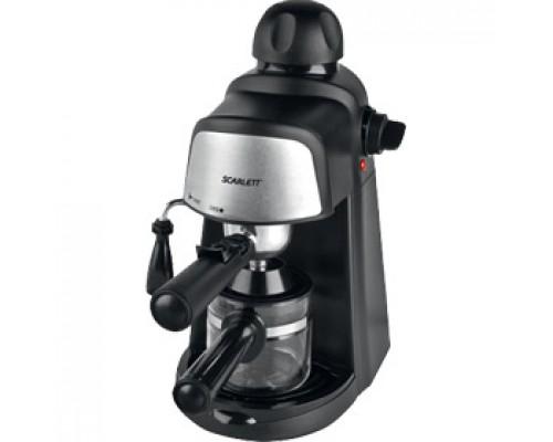 Кофеварка SCARLETT SC-037, рожковая, черный