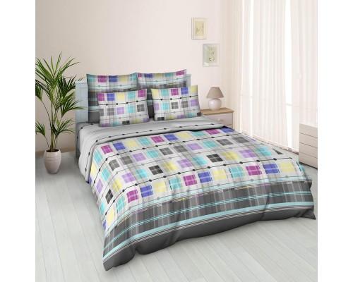 Комплект постельного белья 1.5-спальный бязь Доминик серый