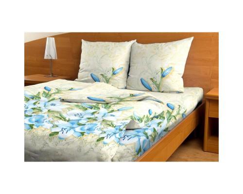 Комплект постельного белья 1.5-спальный бязь Голубые лилии
