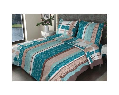 Комплект постельного белья 1.5-спальный бязь Аккорд бирюзовый