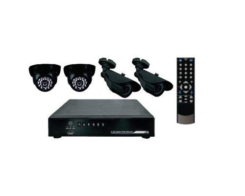 Комплект видеонабдюдения Rexant 45-0109 2 внутрен 2 наруж кам(без ж.диска)