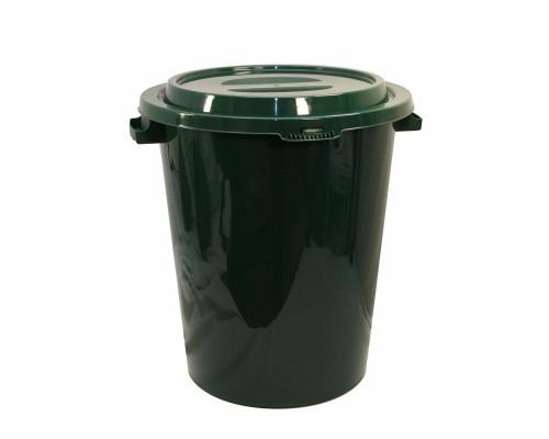 Бак для мусора 90л, пластик, зеленый