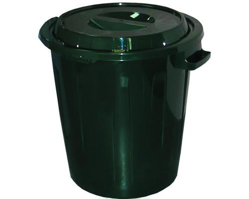 Бак 60 л с крышкой (пластик, цвет зеленый)