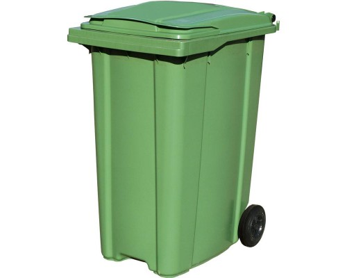 Контейнер мусорный 360л на 2-х колёсах с крышкой зеленый