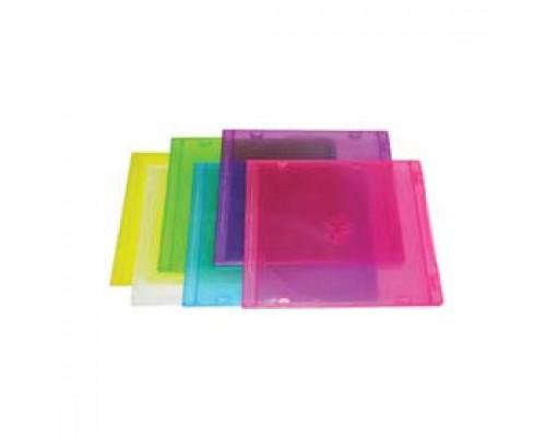 Коробка для 2CD slim, 5шт, ассорти