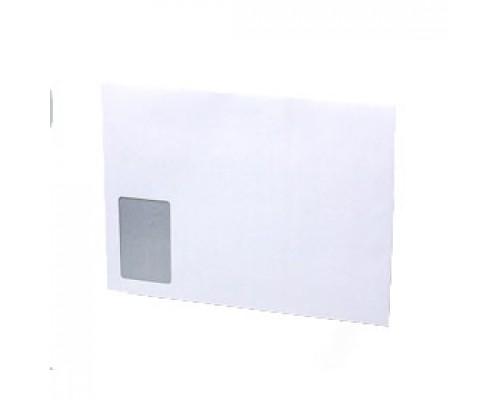Конверт С4 229х324мм 90г, левое окно, стрип, 500шт, белый