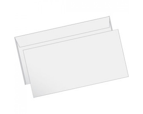 Конверт E65 110х220мм 80г, стрип, 1000шт, белый