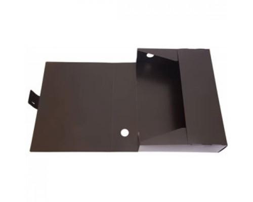 Короб архивный 80мм, GALAXY, пластик, 1мм, вырубная застежка, черный