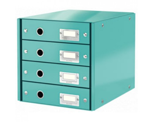 Короб 286х282х358мм LEITZ CLICK-N-STORE, 4 лотка, бирюзовый