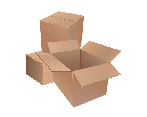 Короб картонный 340х250х200 мм бурый гофрокартон Т-22 профиль B (10 штук в упаковке)