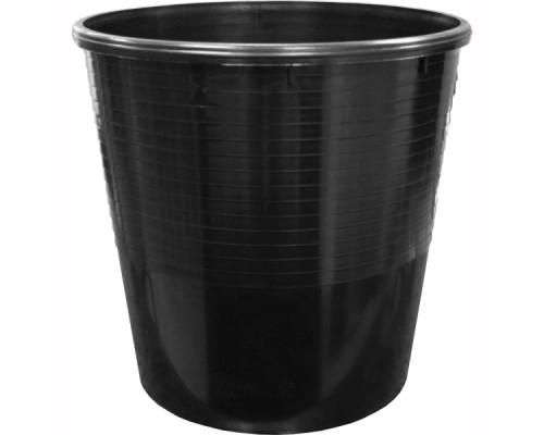 Корзина для бумаг 12л сплошная, ERICH KRAUSE, черный