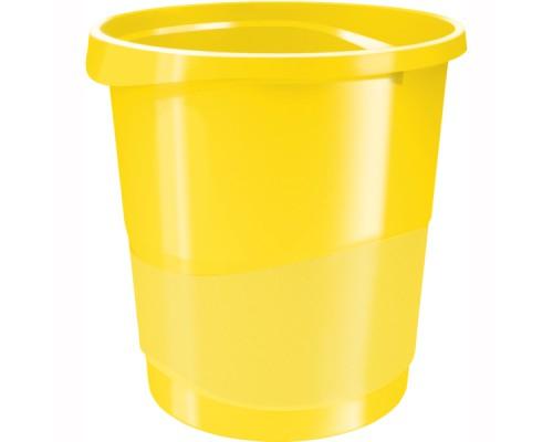 Корзина для бумаг 14л сплошная, ESSELTE Europost, желтый
