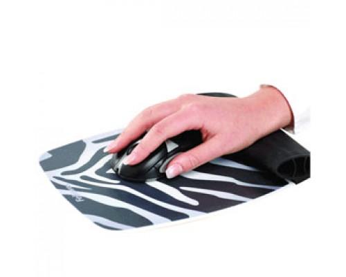 Коврик для мыши FELLOWES, силиконовая подкладка, зебра
